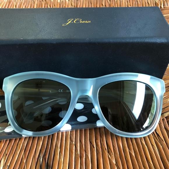 07c492df1d J Crew Betty slightly oversized sunglasses in Aqua